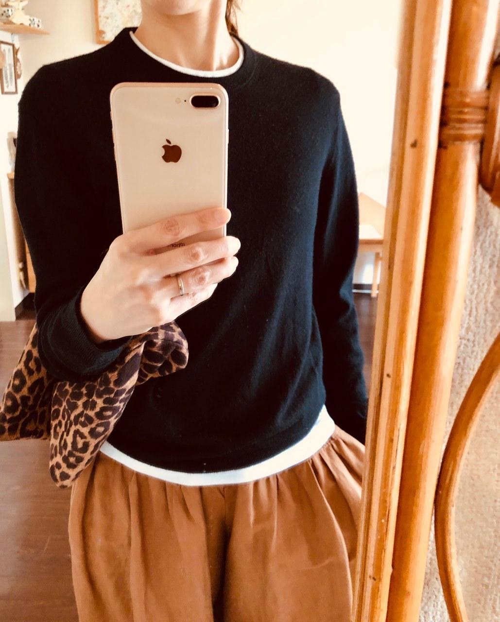 ユニクロ春買いTシャツ、チラ見せを 楽しむ☆_1_4