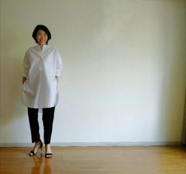 """白のボリュームシャツで作る""""ふわピタ""""シルエット_1_1-1"""