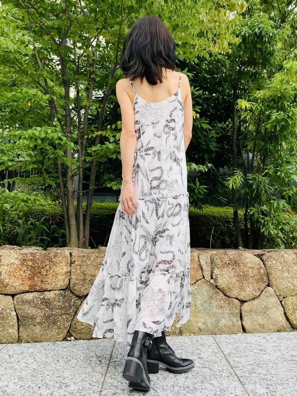スリップドレス背面