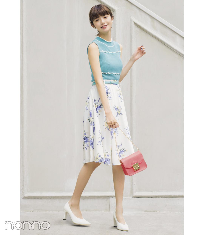 真夏の花柄スカート、モテるコーデはこれ!_1_1-3