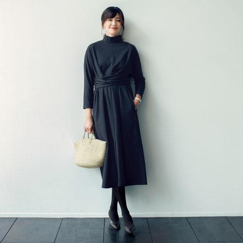 森慶子×THIRD MAGAZINE ウールジャージーワンピース ¥38,000+税