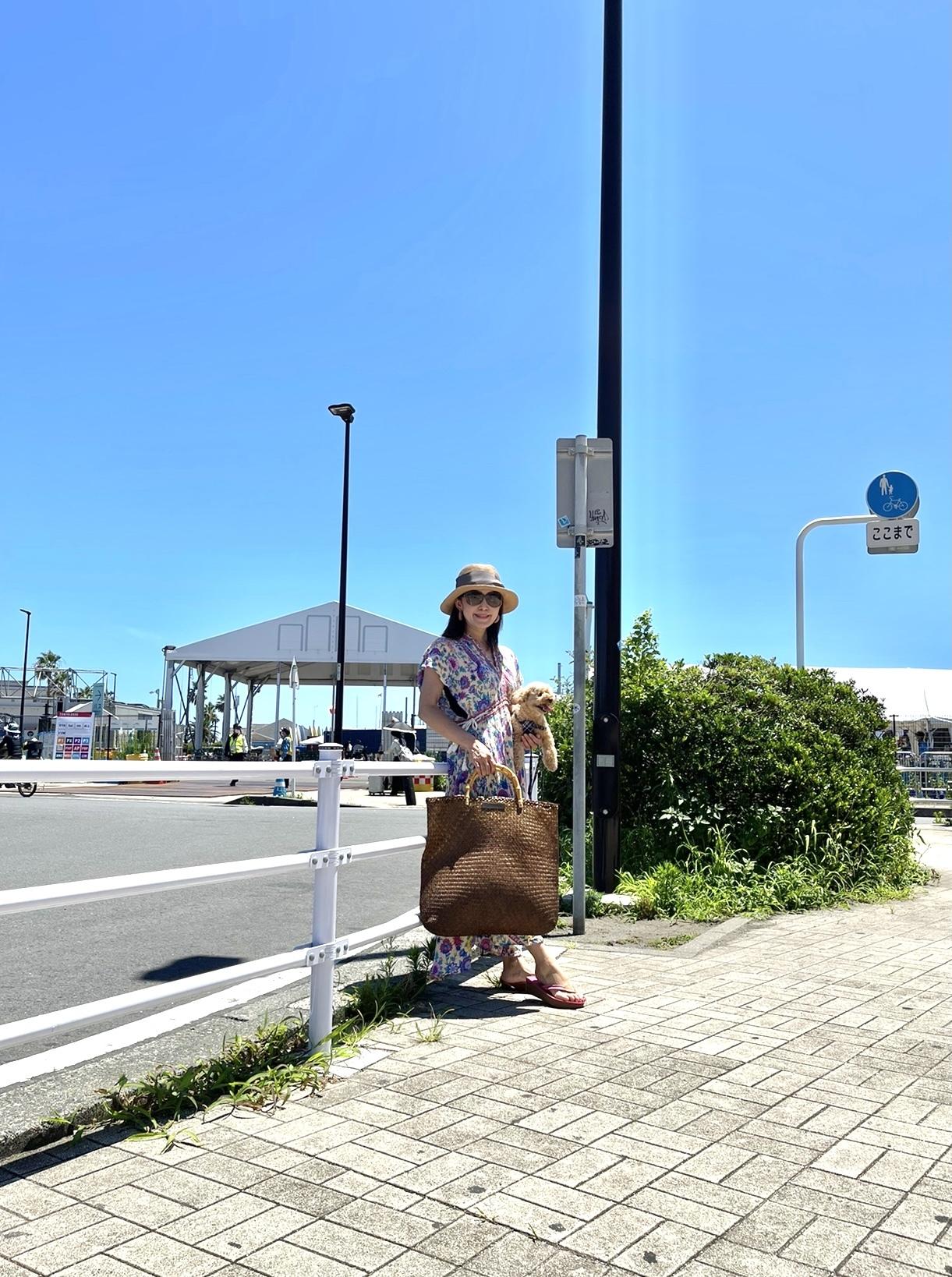 カジュアルリゾートワンピで江ノ島ヨットハーバーへ_1_5-1
