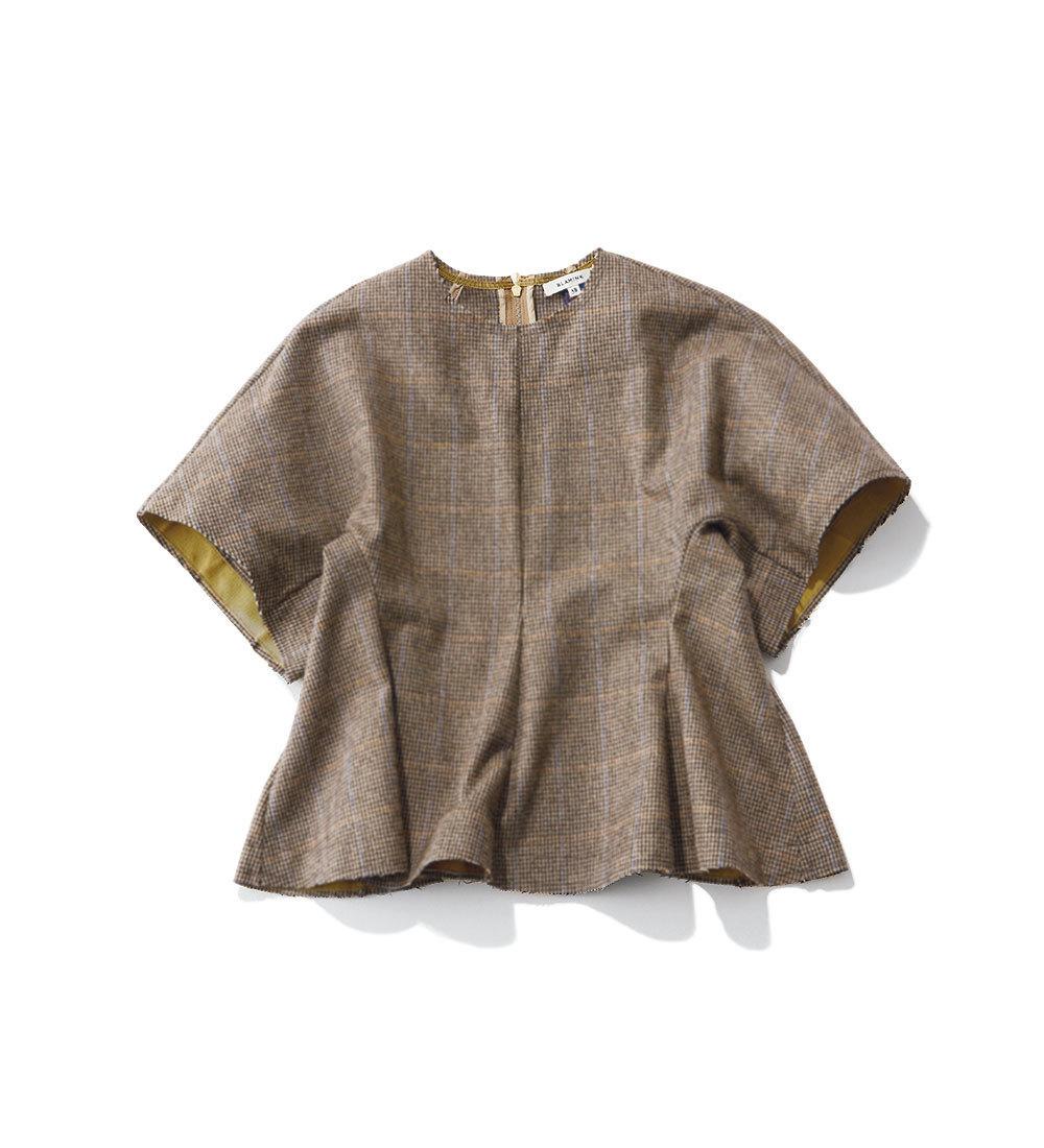 ファッション 秋トレンドのチェック柄トップス