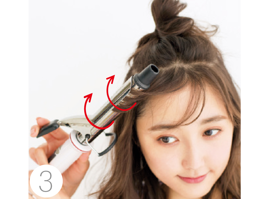 前髪長めさんにおすすめ! ハーフアップで小顔ヘアアレンジ★_1_3-3