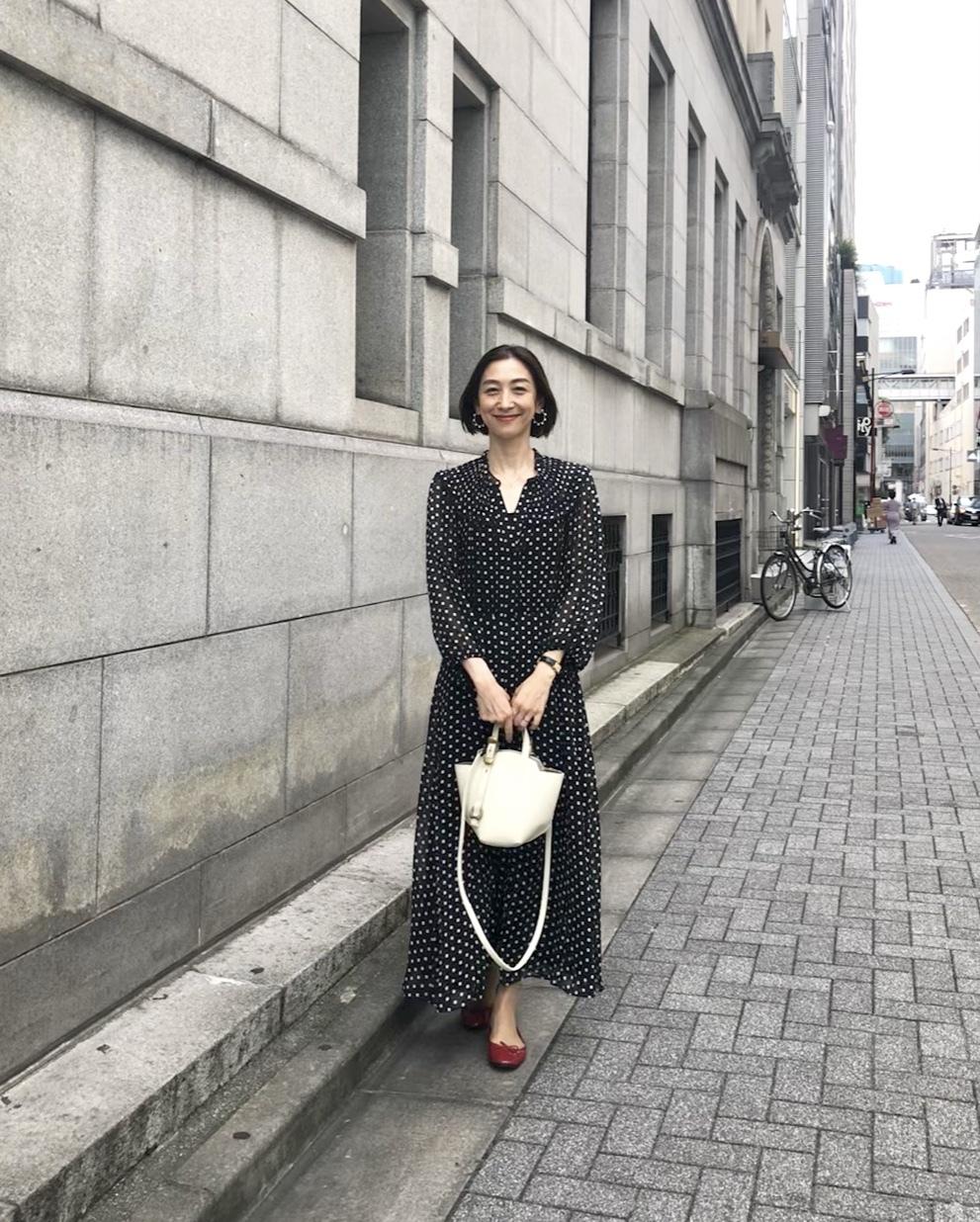 ショートボブ&水玉で華組銀座ランチ♩_1_6