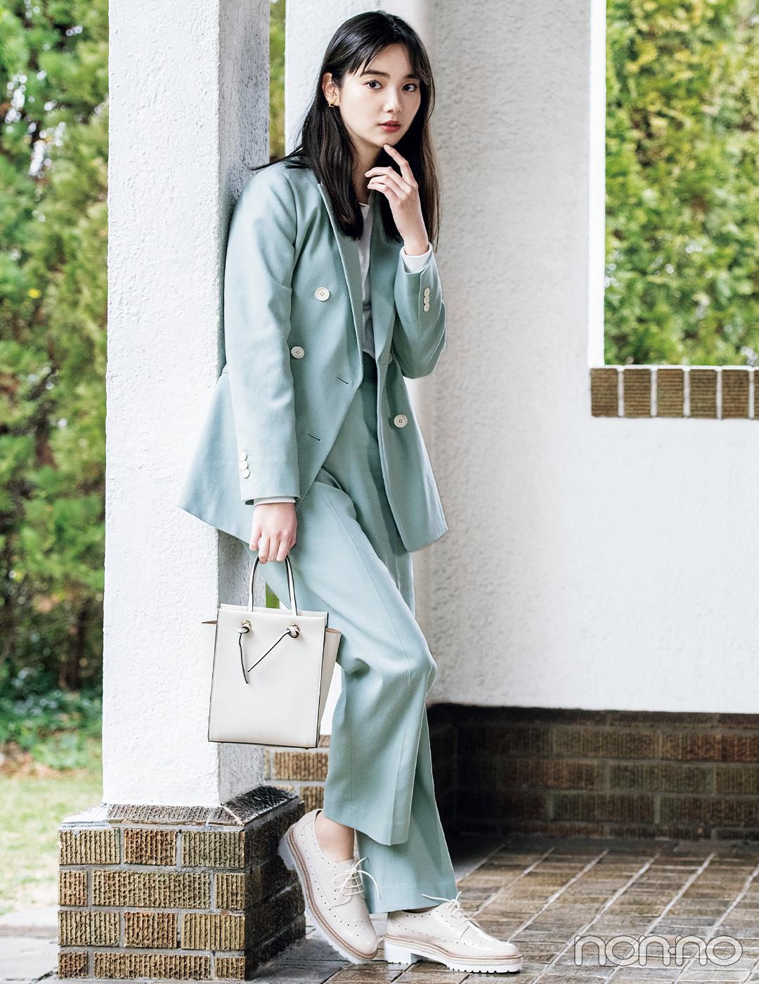 新川優愛は春色セットアップでこなれハンサムスタイル【毎日コーデ】