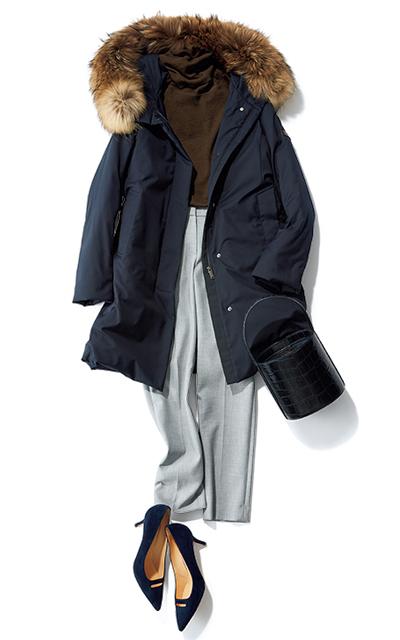 【Day17】美シルエットの蓄熱パンツとダウンで北風にも負けない!【冬の洗練パンツ30days】_1_1