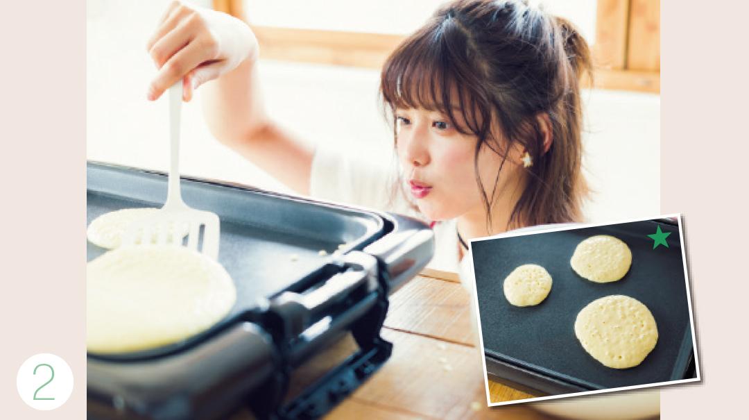 渡邉理佐がトライ! 簡単♡ Xmasのパンケーキツリーレシピ_1_3-2