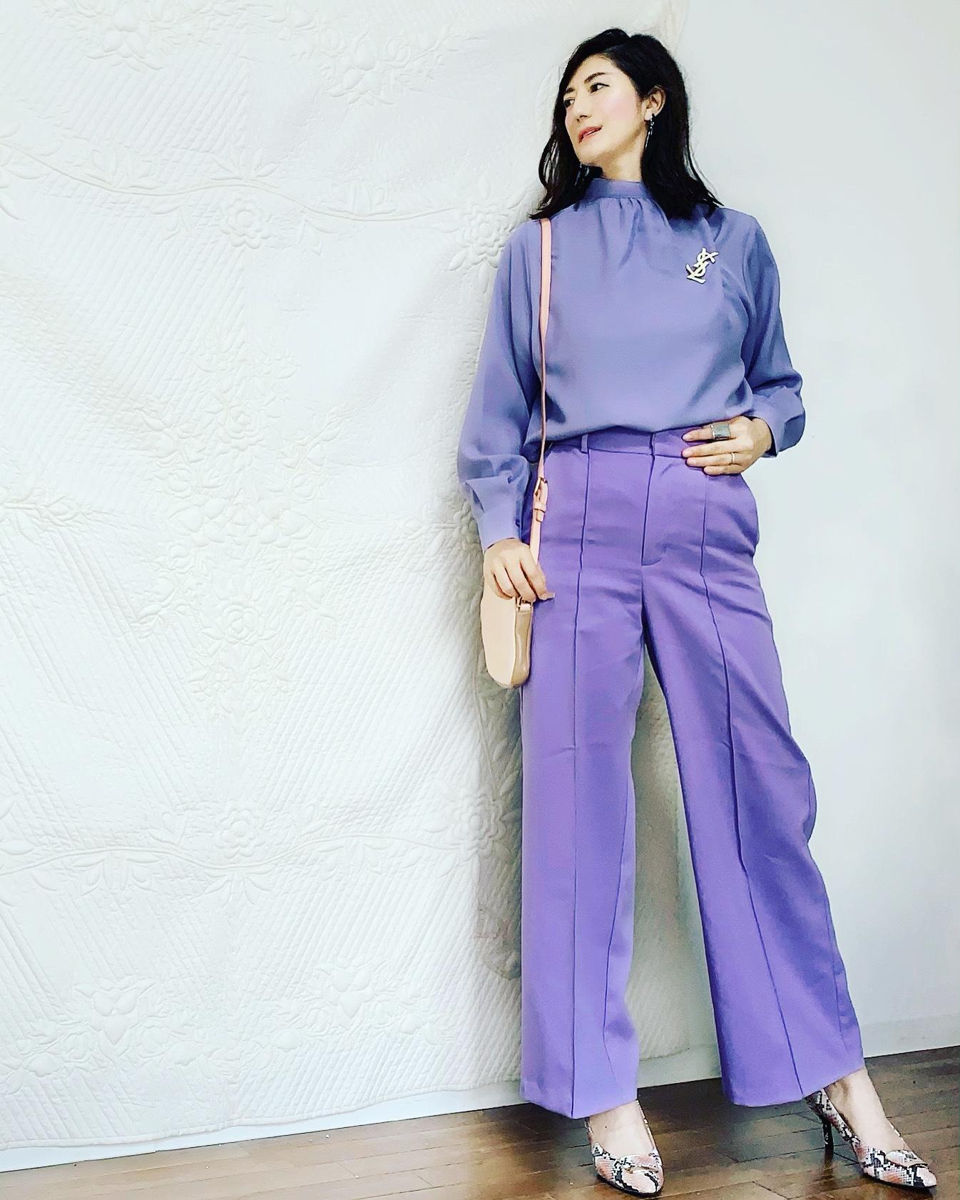 優美な パンツで春気分、2パターン!_1_2