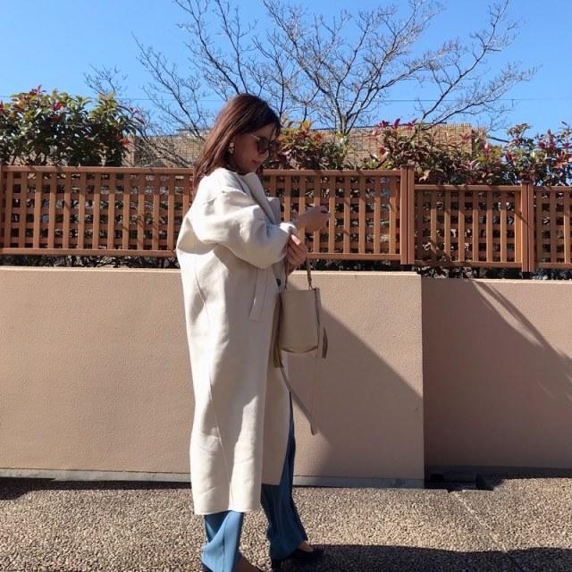 コート1枚で旬顔になれる♪ニュアンスカラーで作る春コーデ♡ _1_6