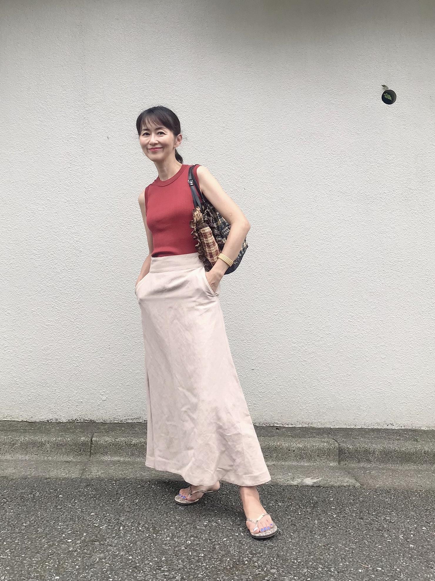 ヴィムガゼットのリネンフレアスカート♡_1_4