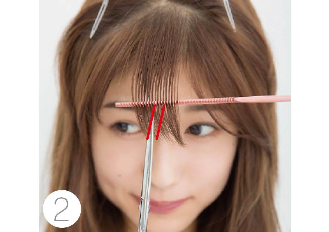 厚めの前髪を、セルフカットでシースルー前髪にする方法★超ていねい解説!_1_4-2