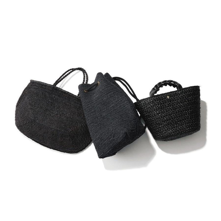 ファッション 黒いカゴバッグ