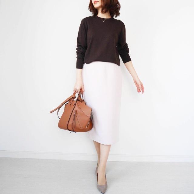 大人が似合う淡ピンク♡美シルエットタイトスカート【tomomiyuコーデ】_1_3