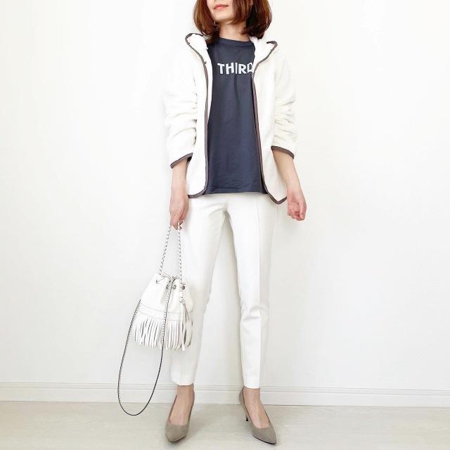 別注!限定ロゴTシャツで春先取りスタイル【tomomiyuコーデ】_1_10