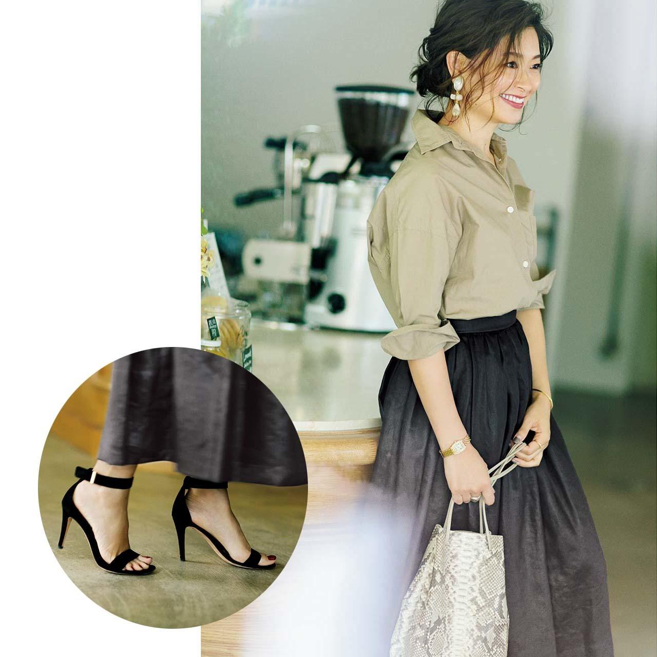 シャツ×スカートのファッションコーデ