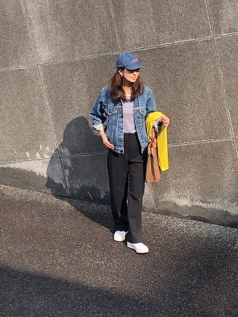 jacket:Levi's TopS:無印良品 Pants:UNIQLO U shoes:StanSmith Bag:Dakota