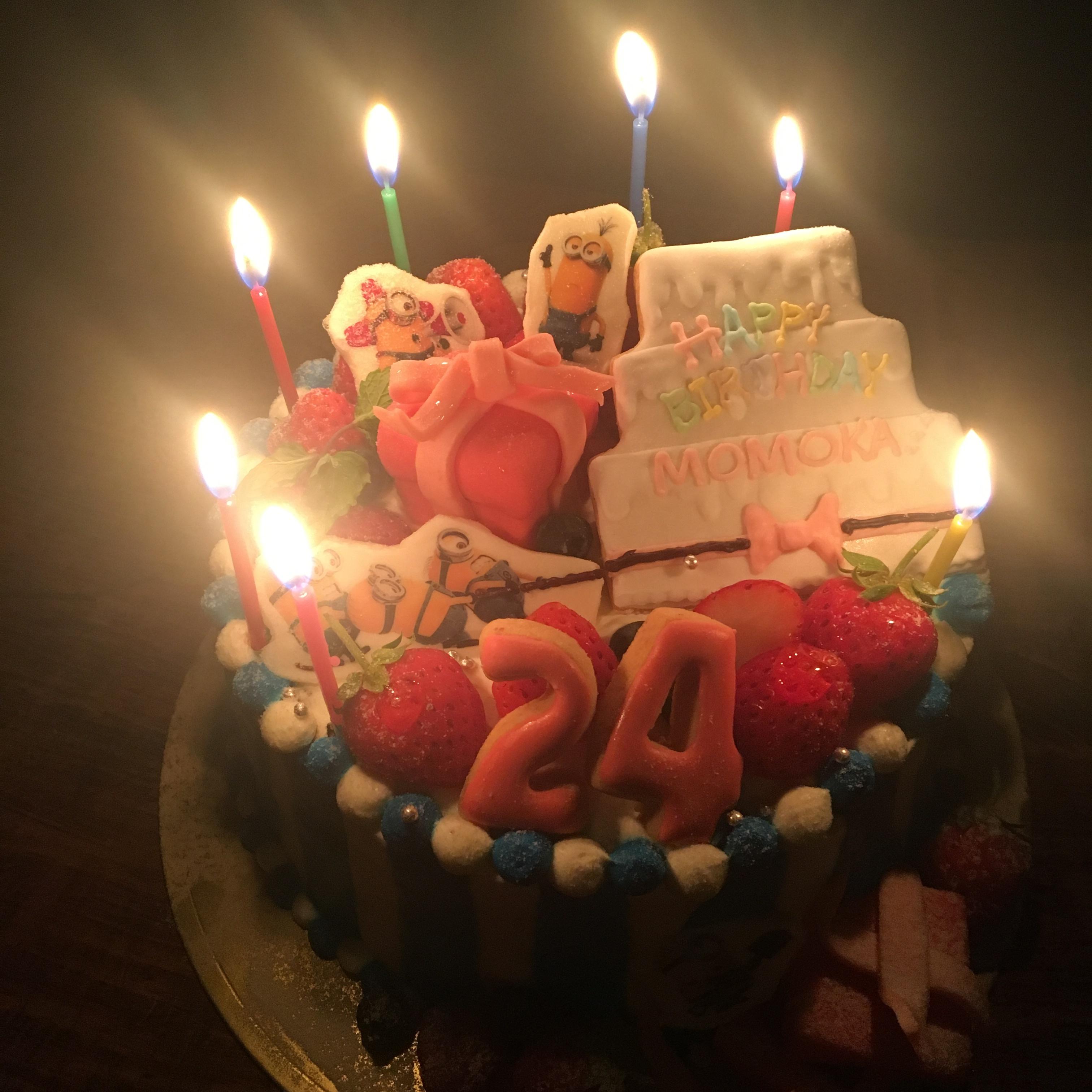 お誕生日迎えました♡ミニオンケーキ_1_1