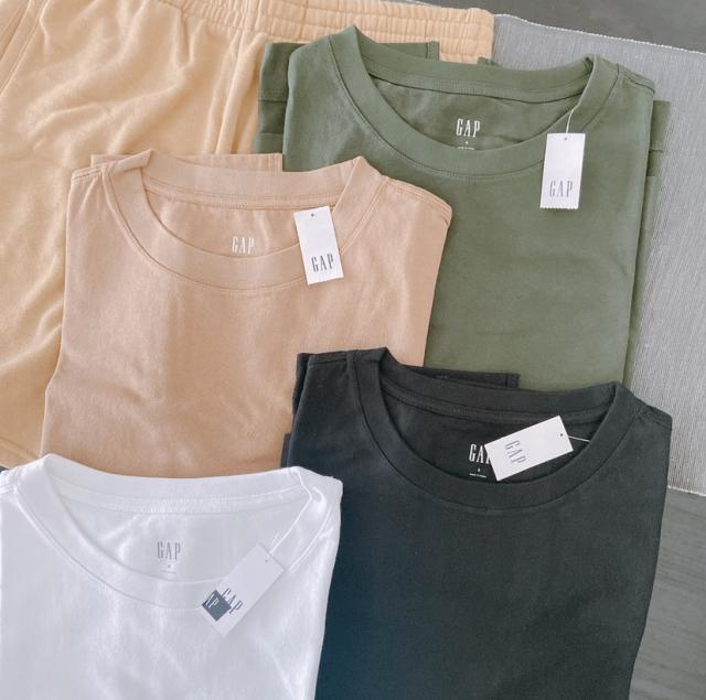 4色買い+1したGAPのテックジャージノースリーブTシャツ_1_1