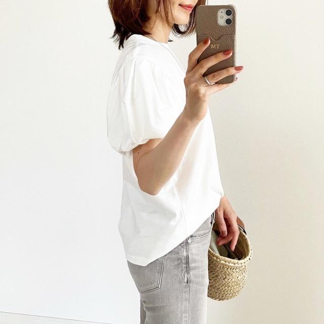 『ZARA』サマ見えパフスリーブTシャツ【tomomiyuコーデ】_1_2