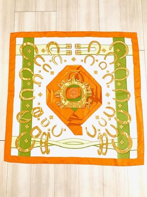 エルメススカーフオレンジ