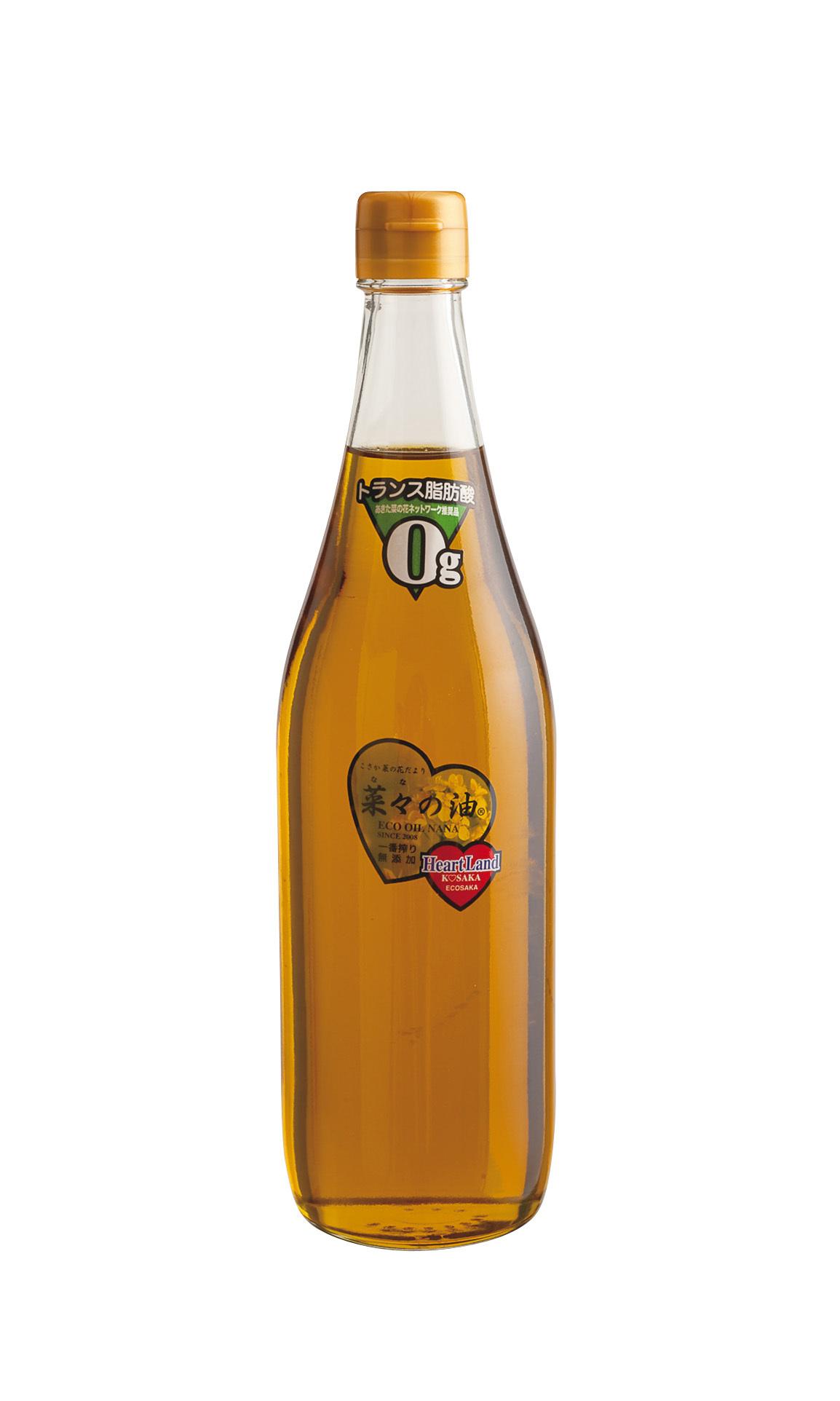 一番絞りの菜種油 エコサカの「菜々の油」_1_1