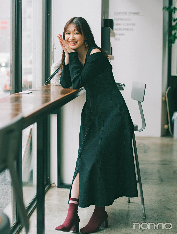 岡本夏美の冬私服♡ バッグの中身も公開!_1_2