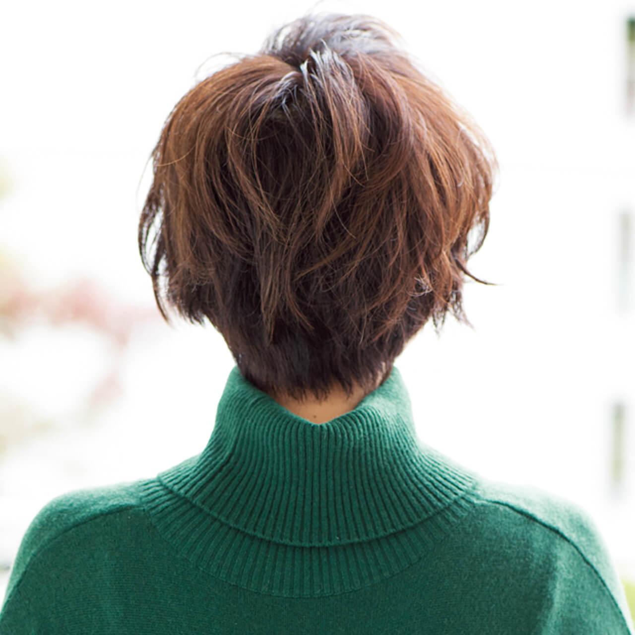 女っぷりのあがるマッシュショートヘア【40代のショートヘア】_1_3