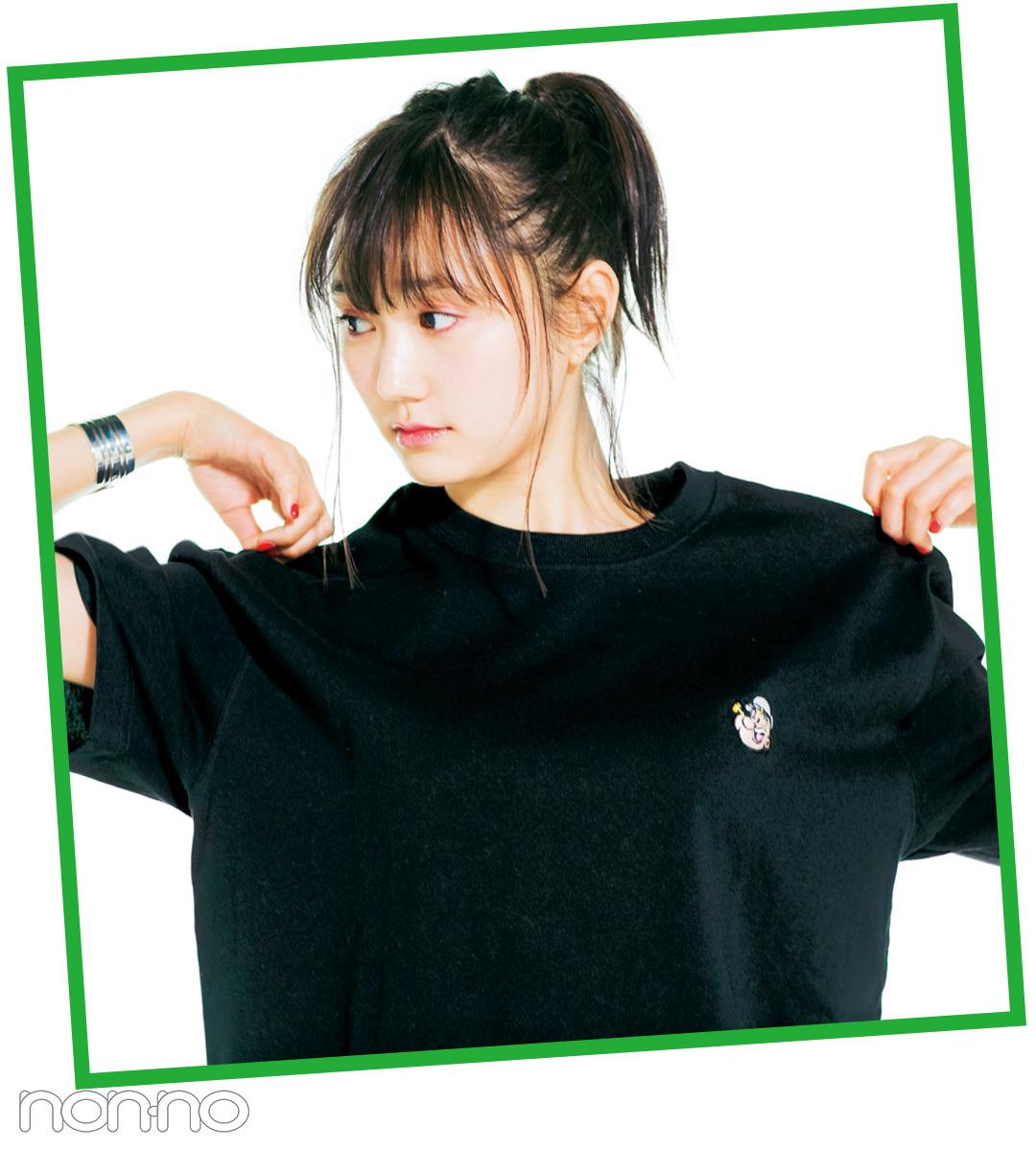 モデルはこう着る!クールめ友菜のビッグTシャツ&甘め菜々花のボーダーTシャツ♡_1_3