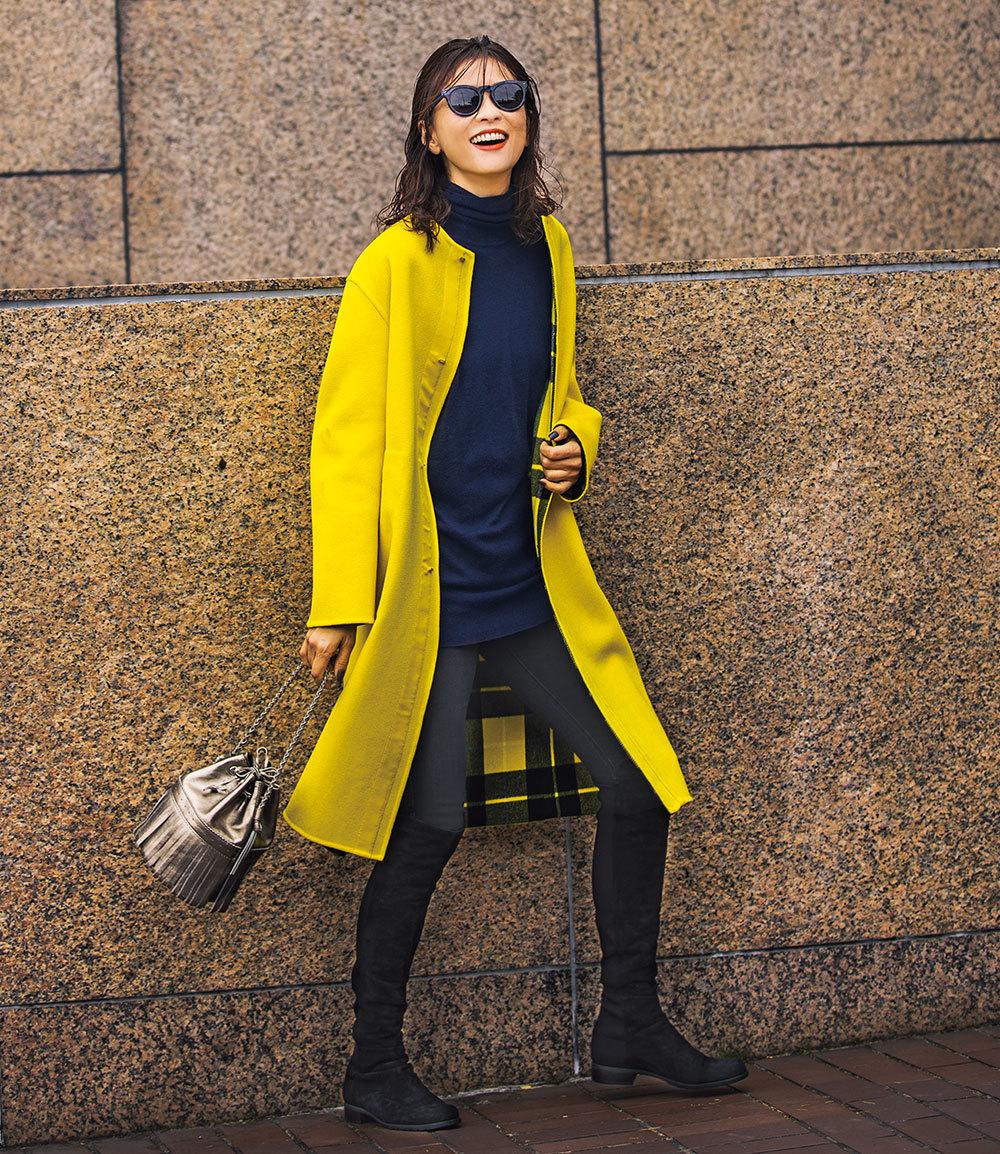 """モデル五明祐子「""""きれい色""""の華やかさが気分!」【My Life,My Fashion!】_1_2-1"""