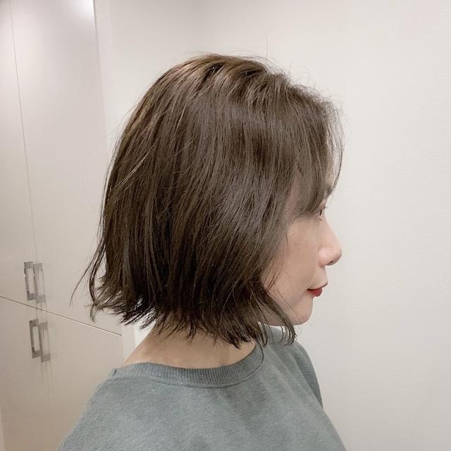ヘアメンテ☆カラーは透けるアッシュグリーン_1_2