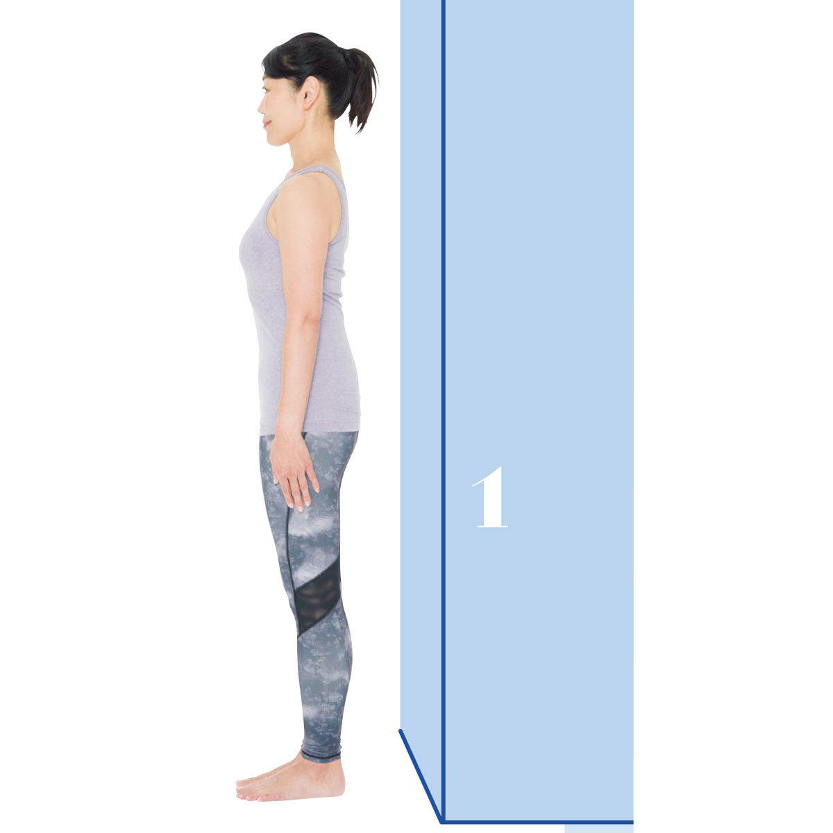 頭を正しい位置に戻す1:頭を後ろに戻すエクササイズ1