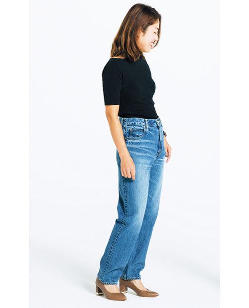 カービーな体型でも履けるデニムを探して!噂のデニムを履き比べてみました_1_2-4