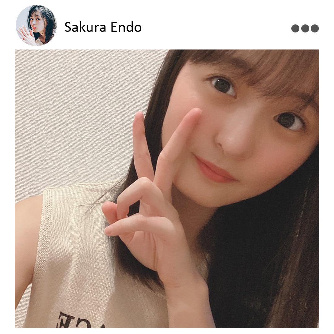 遠藤さくら(乃木坂46)Instagram(@nonno_magazine)