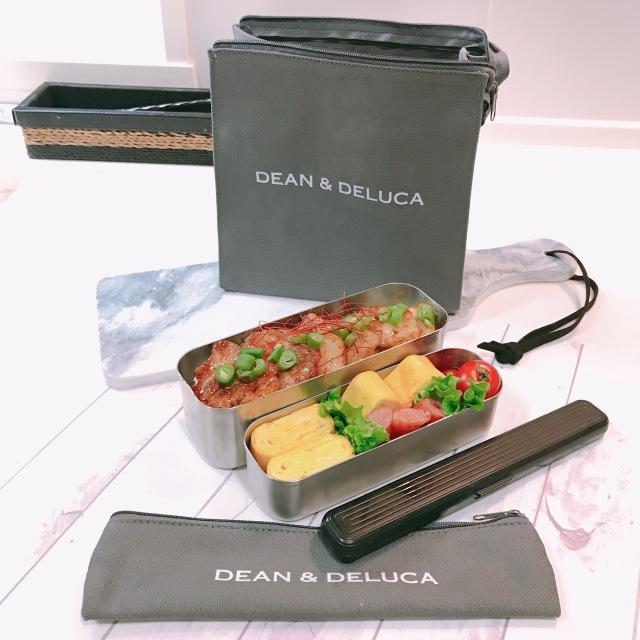 DEAN&DELUCAランチバッグとカトラリーケース♡_1_5