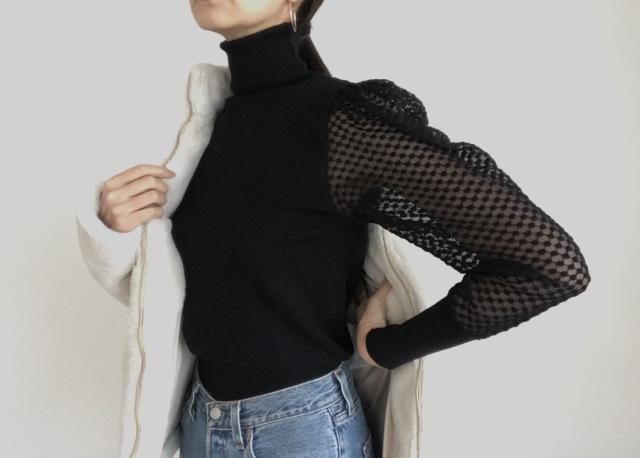 冬の少しだけ気合いを入れたい華やかファッションは袖で遊ぶ&私的プチプラブランドの使い分け_1_4