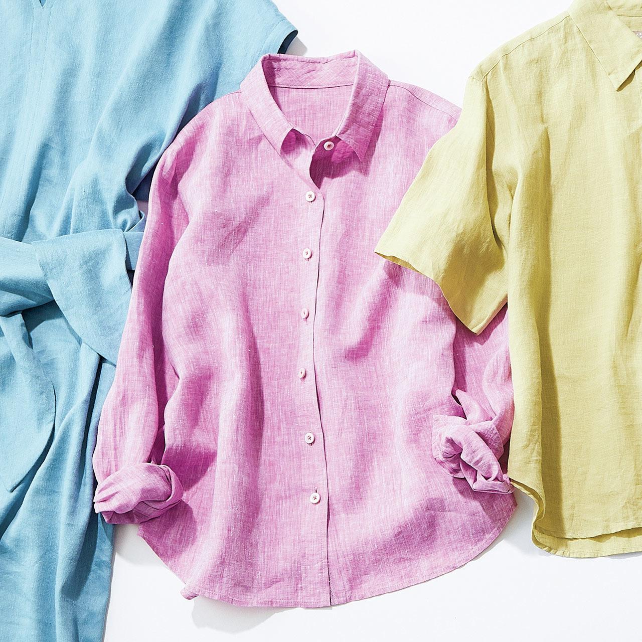 """リネンのカッコよさを印象づけるなら""""きれい色のトレンド感""""で 五選_1_1-4"""
