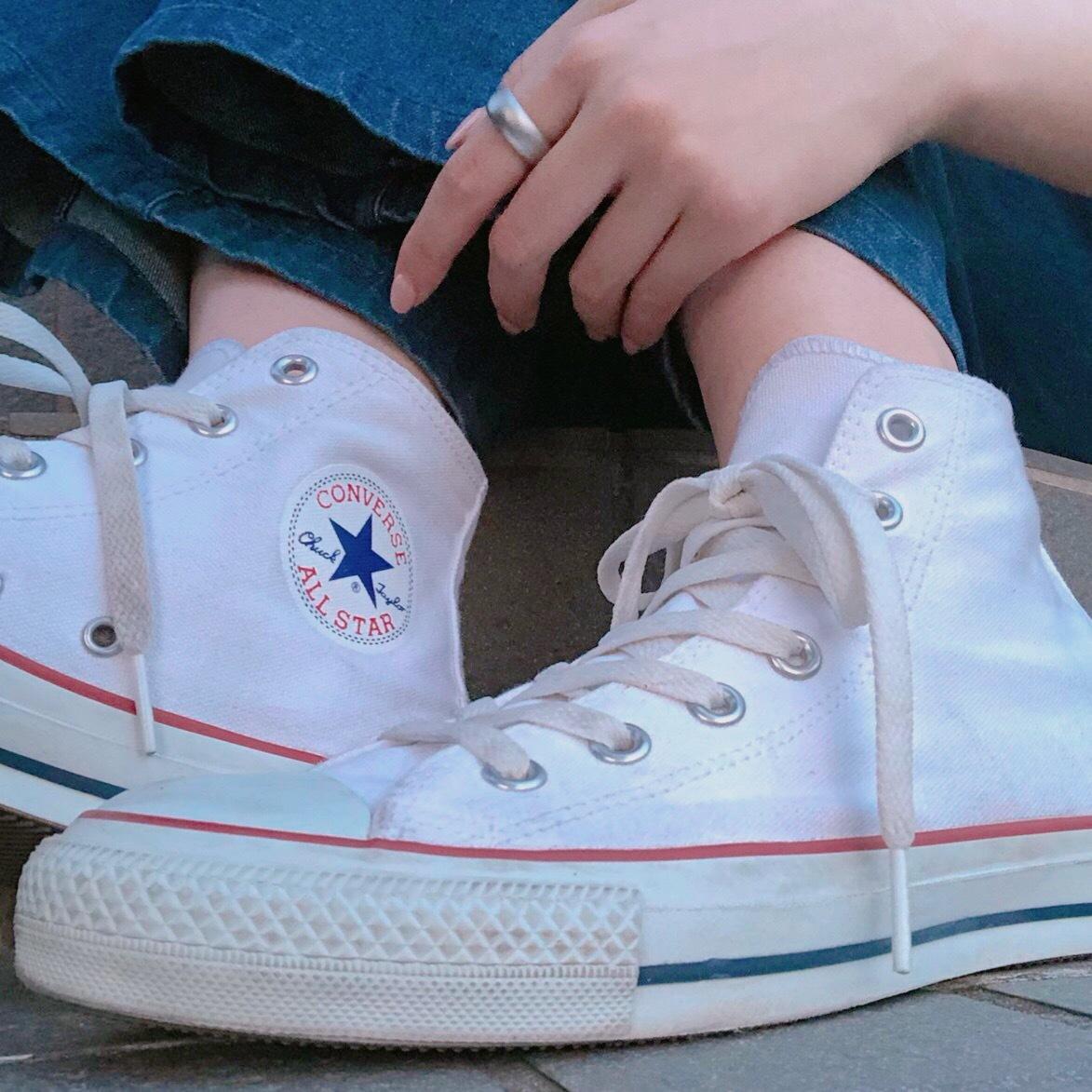 """【 第109回❤︎ 】私のお気に入り!""""converse""""を""""#キモ撮り""""風ショットでご紹介☺︎_1_1"""