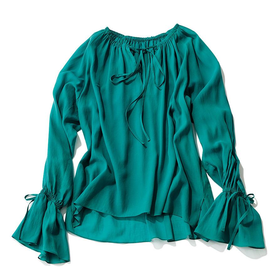 手元にフェミニンさを。着るだけで女らしさが手に入る「ボリューム袖」シャツ_1_2-3