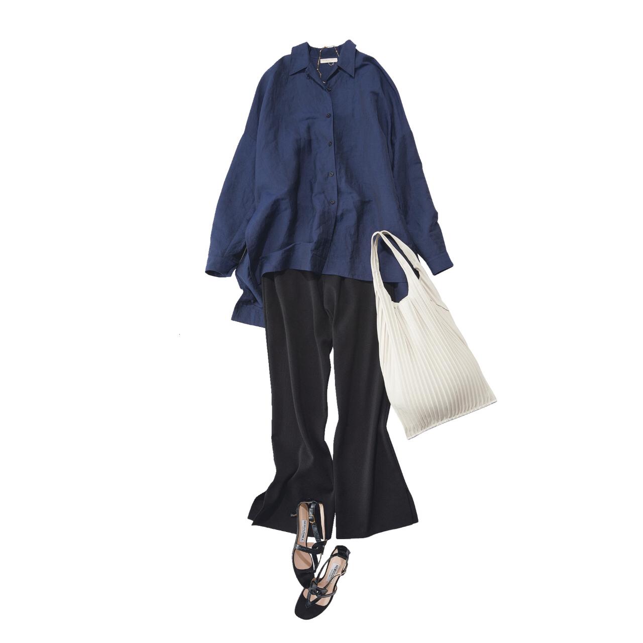 定番の黒パンツを極める!今っぽく、おしゃれで、美脚見えする黒パンツコーデまとめ|40代ファッション_1_11