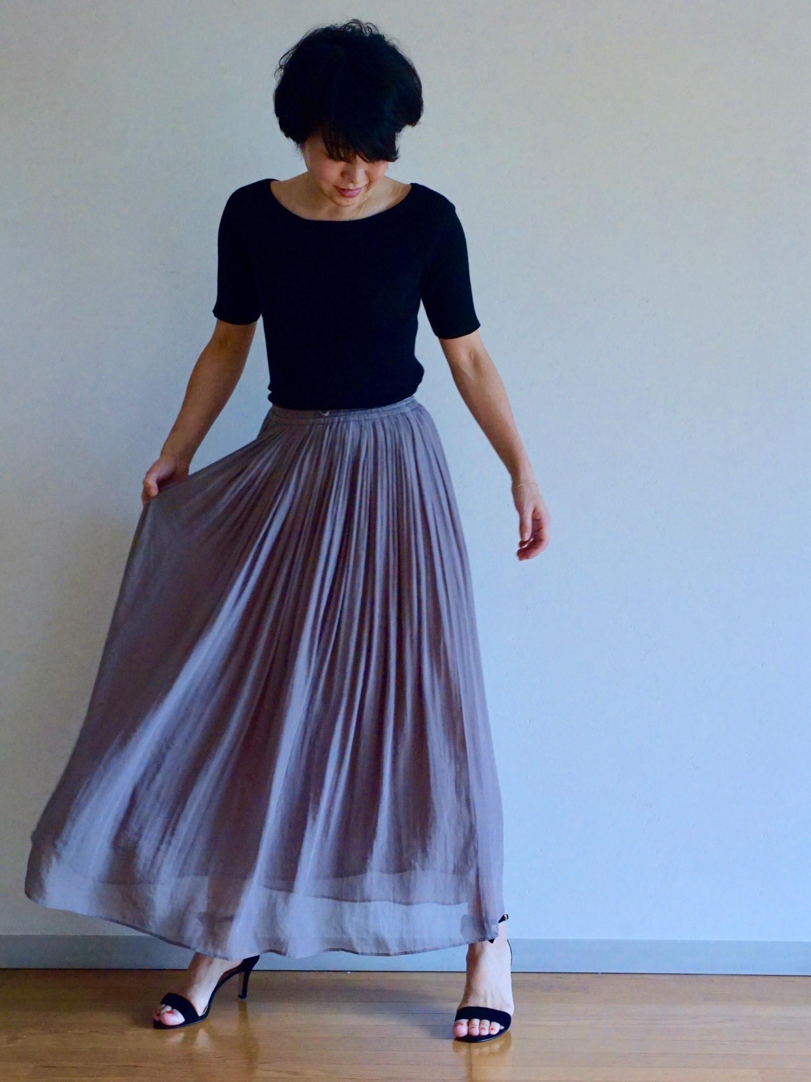 女っぷりを叶えてくれるふんわりスカートで私のワンツーコーデ_1_1-1