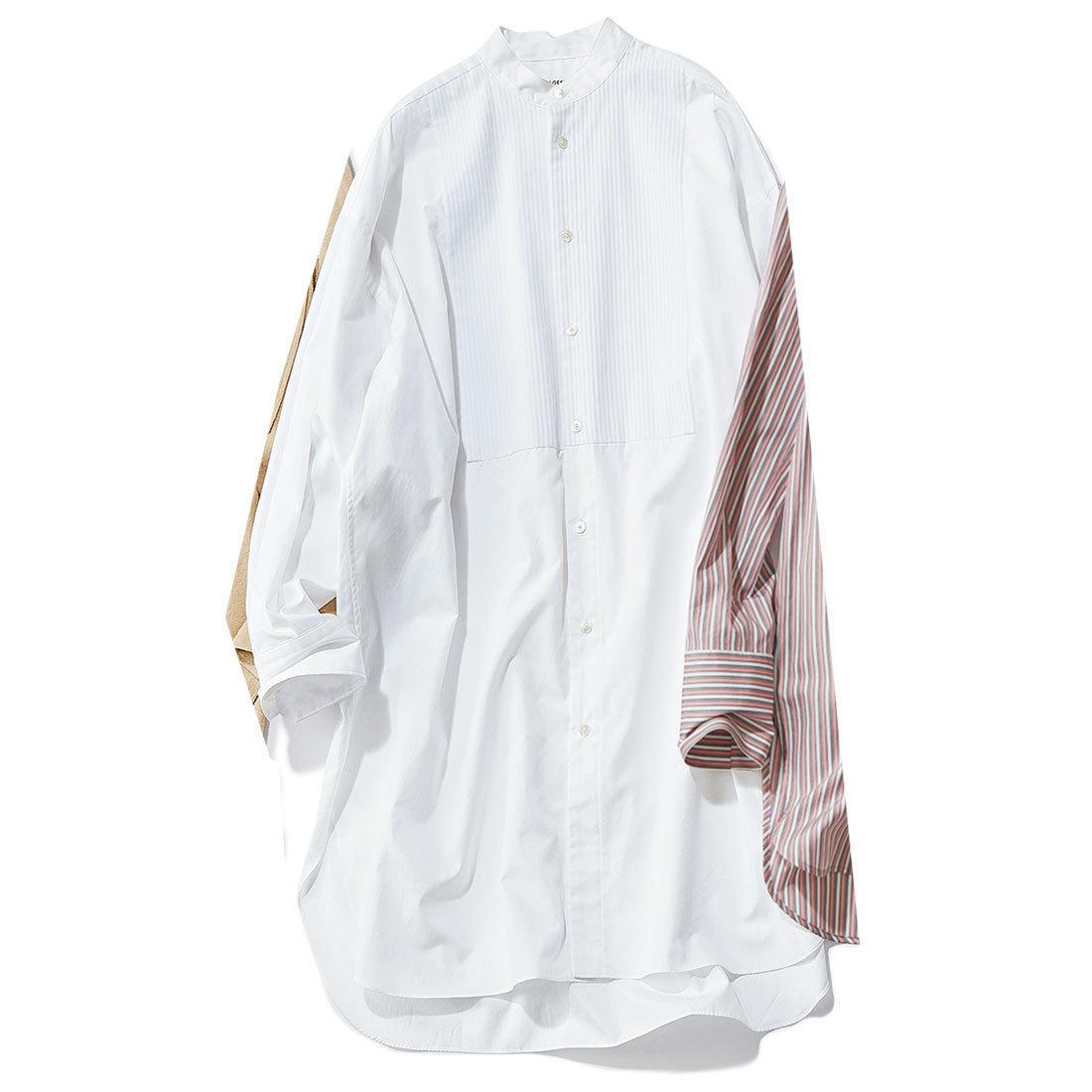 ■ロエフの白ピンタックロングシャツ