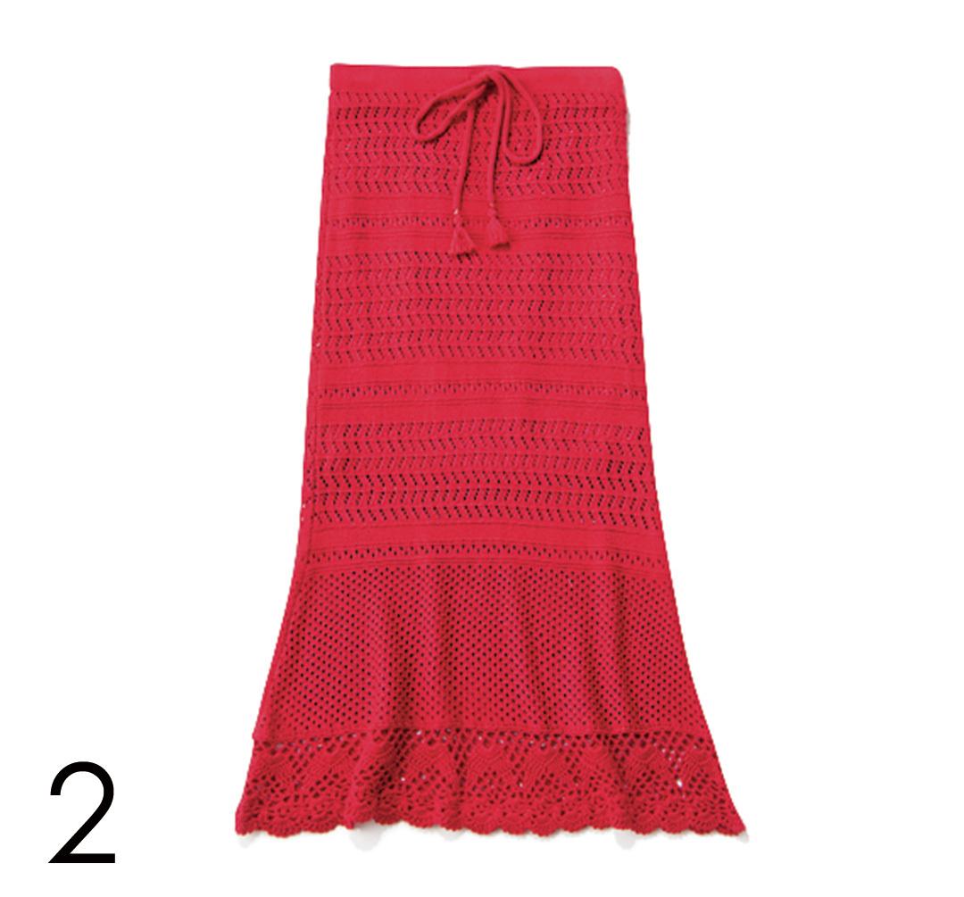 夏だからはきたい! カジュアル派の今っぽ赤スカート4選_1_4-2
