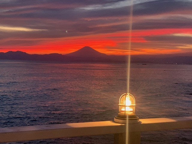湘南 海 夕焼け 富士山 デュアルライフ jマダムの暮らし