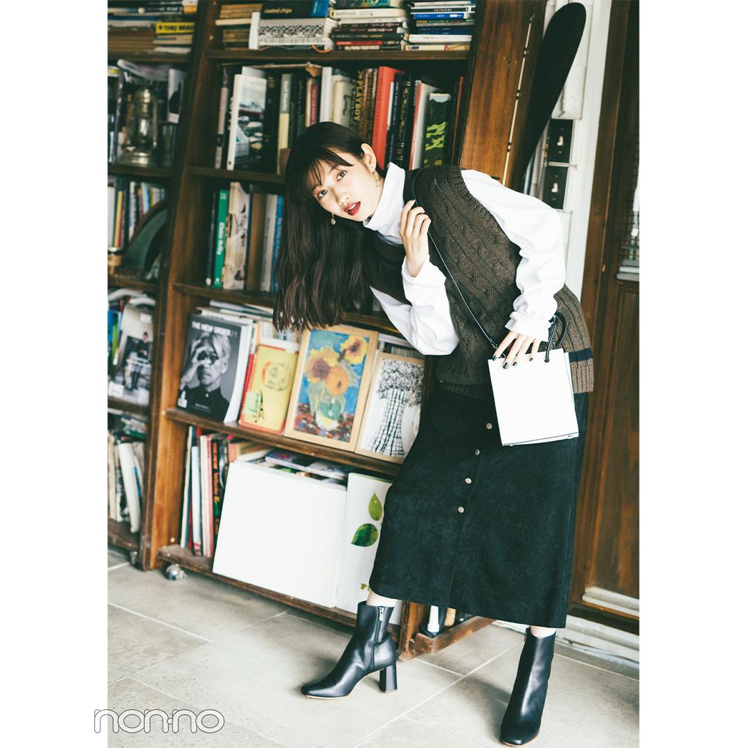 GUのメンズトップスと花柄スカートで最旬ミックスコーデ【毎日コーデ】_1_2-5
