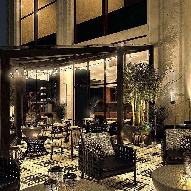 2階のテラス 2階のテラスは、風を感じられるスタイリッシュなデザイン。