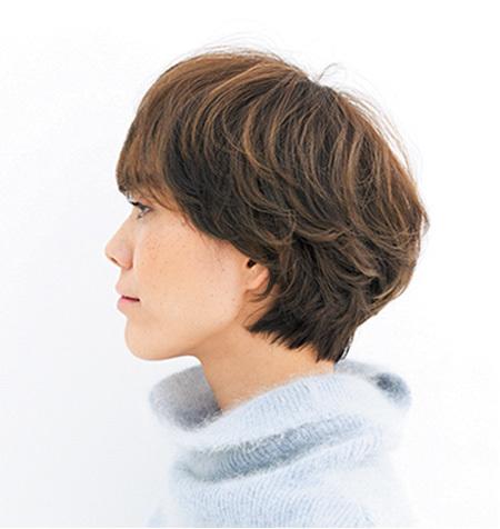 レトロなマッシュベース× 寒色カラーでモードショートに【40代のショートヘア】_1_2