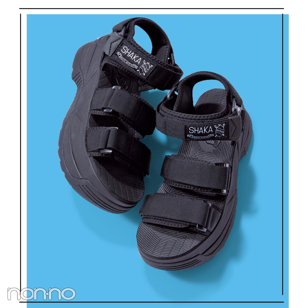 サンダル2019★ハイテク厚底スポサン系の靴下合わせ、正解教えます!_1_2