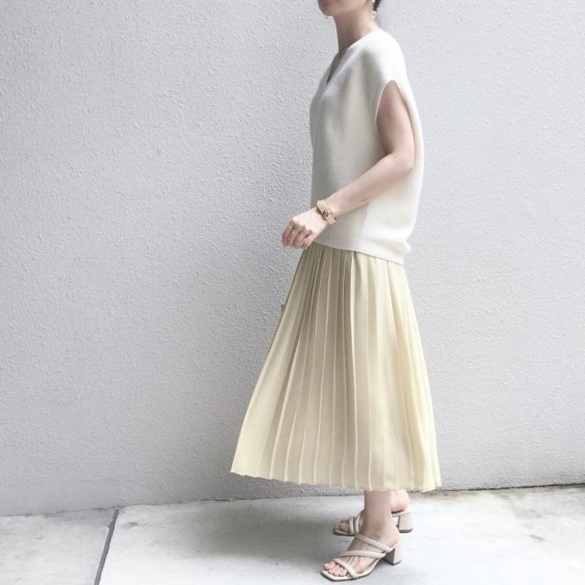 【ユニクロ】定価でも迷わず買った新色のプリーツスカート_1_3-2