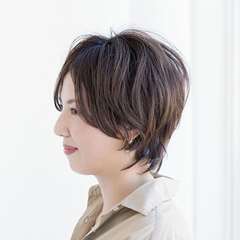 横から見た ショートヘアスタイル人気ランキング8位の髪型
